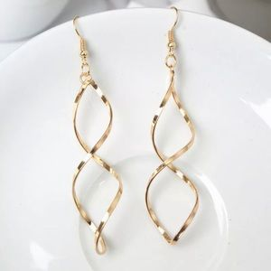 Gold Filled Twist Earrings